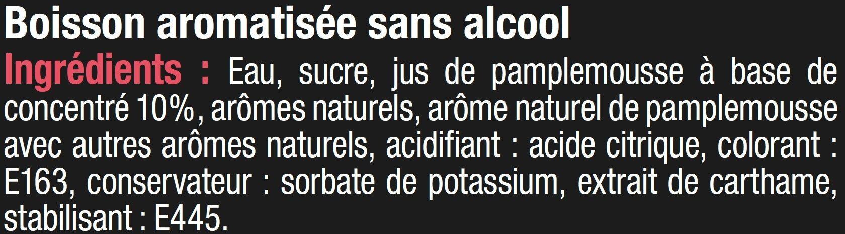 Cocktail sans alcool rose pamplemousse - Ingrediënten - fr