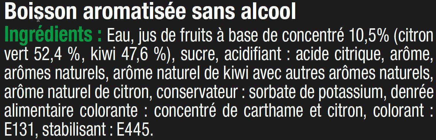 Cocktail sans alcool citron vert kiwi - Ingrediënten