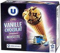 Cônes vanille chocolat - Produit - fr