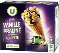 Cônes vanille praliné - Produit - fr