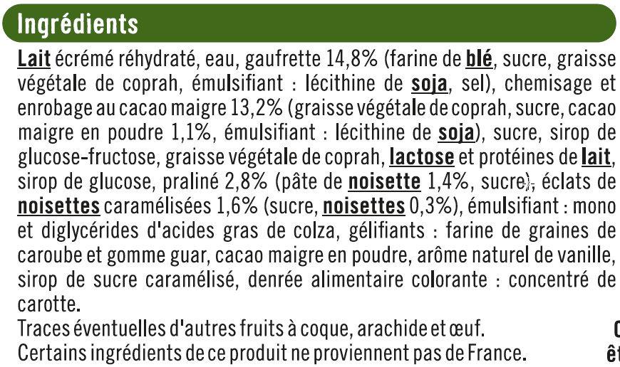 Cônes vanille praliné - Ingrédients - fr