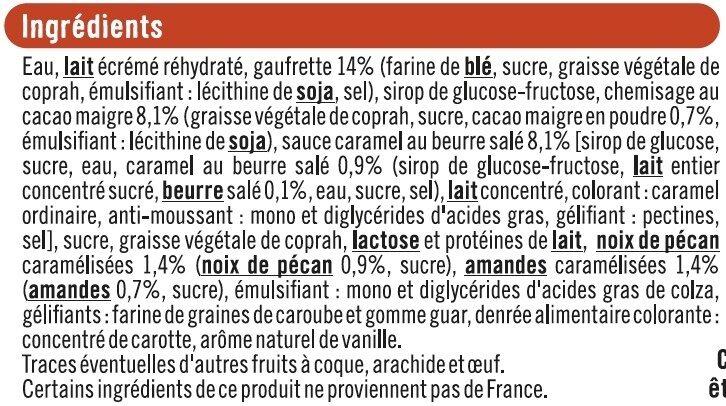 Cônes vanille pécan - Ingredients