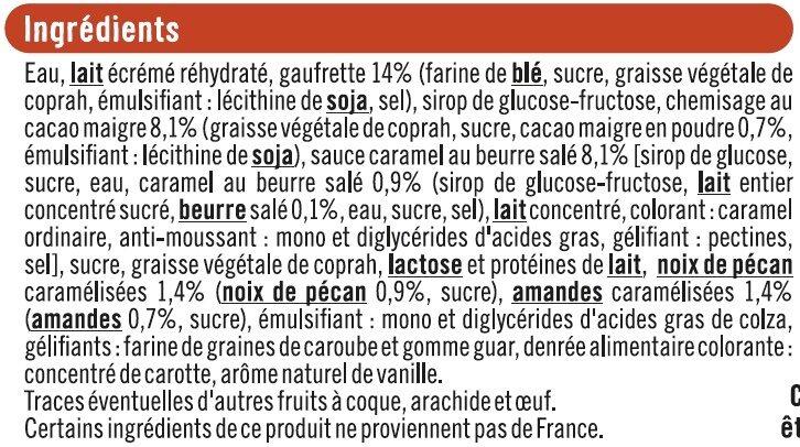 Cônes vanille pécan - Ingrédients - fr