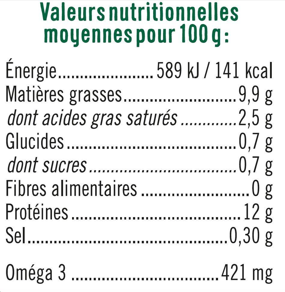 Oeufs plein air calibre mixte - Informations nutritionnelles - fr