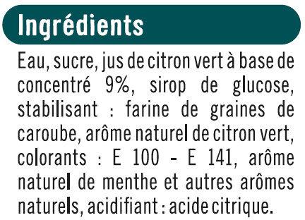 Bâtonnets façon mojito citron vert et menthe - Ingrédients - fr