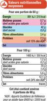 Blé précuit cuisson rapide - Informations nutritionnelles - fr