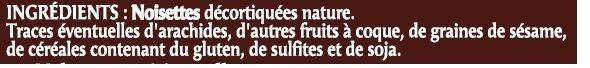 Noisette décortiquée - Ingrédients - fr