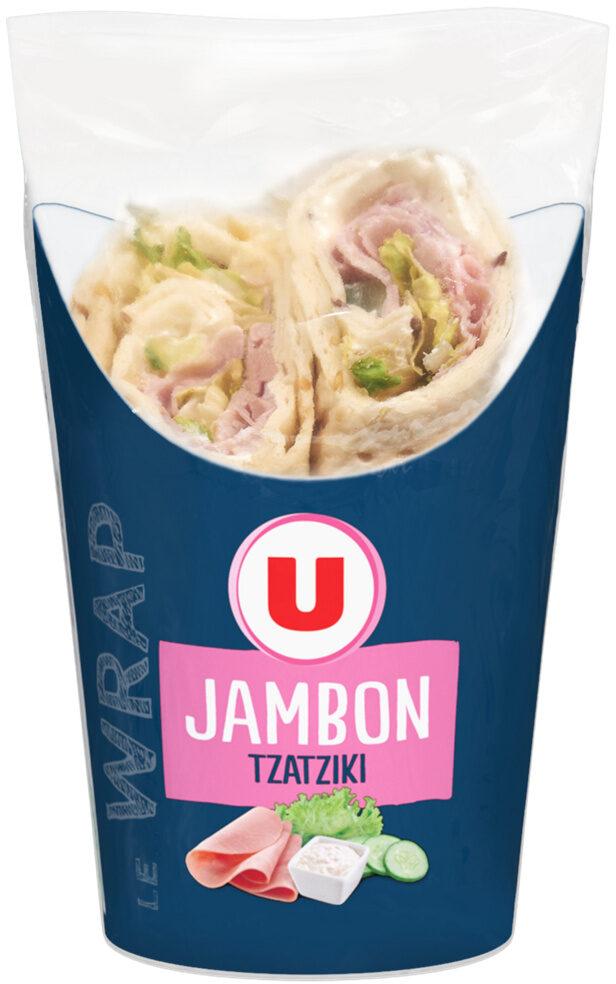 Wrap jambon cuit crudités tzatziki - Product - fr