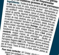Wrap poulet rôti caesar - Ingrédients - fr