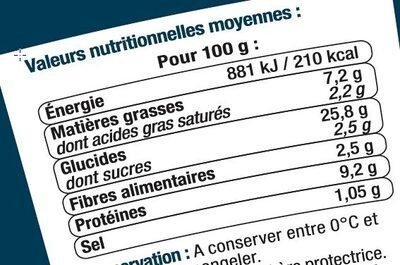 Wrap poulet rôti caesar - Informations nutritionnelles - fr