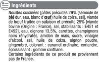Boeuf aux oignons et nouilles - Inhaltsstoffe - fr
