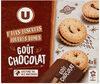 Mini biscuits fourrés ronds parfum chocolat - Product