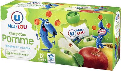 Gourdes compote allégée en sucres pomme - Product - fr