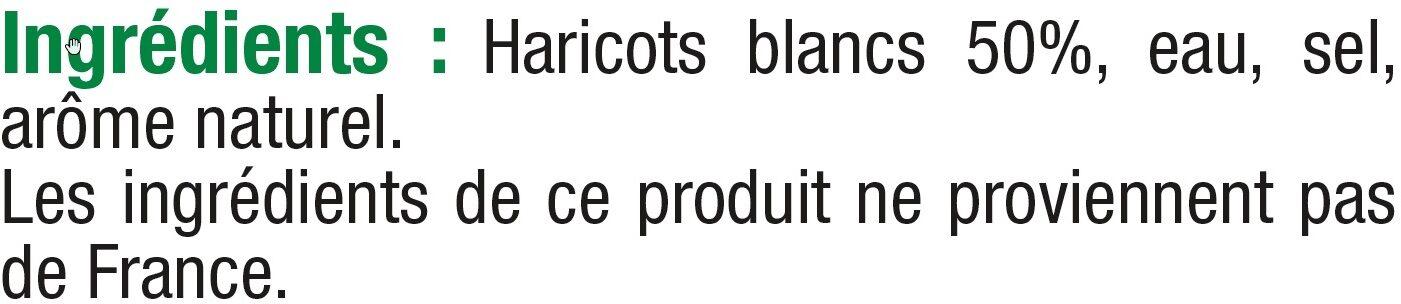 Haricots blancs préparés - Ingredients - fr