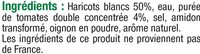 Haricots blancs tomate - Ingredients