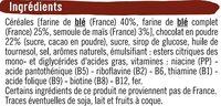 Céréales pétales de blé chocolat - Ingrédients - fr