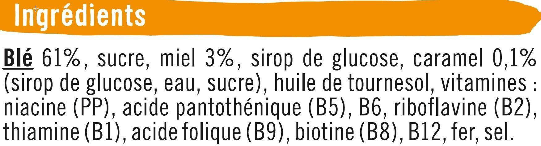 Blé miel caramel - Ingrédients