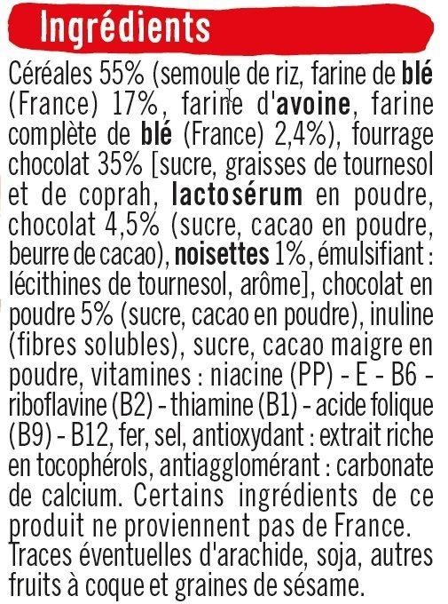 Pack mini paquets de céréales - Ingrédients - fr