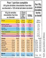 Pack mini paquets de céréales - Informations nutritionnelles - fr