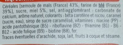Boules de céréales miel - Ingredients - fr