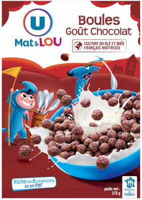 Boules de céréales goût chocolat - Product - fr