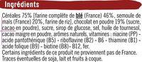 Boules de céréales goût chocolat - Ingredients - fr