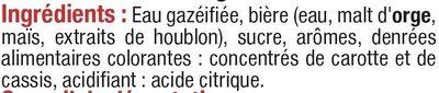 Panaché aromatisé saveur grenadine - Ingredients - fr