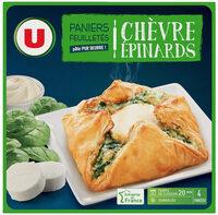 Paniers feuilletés au chèvre épinards - Produit - fr