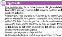 Panier feuilletés aux légumes du soleil - Ingrediënten - fr
