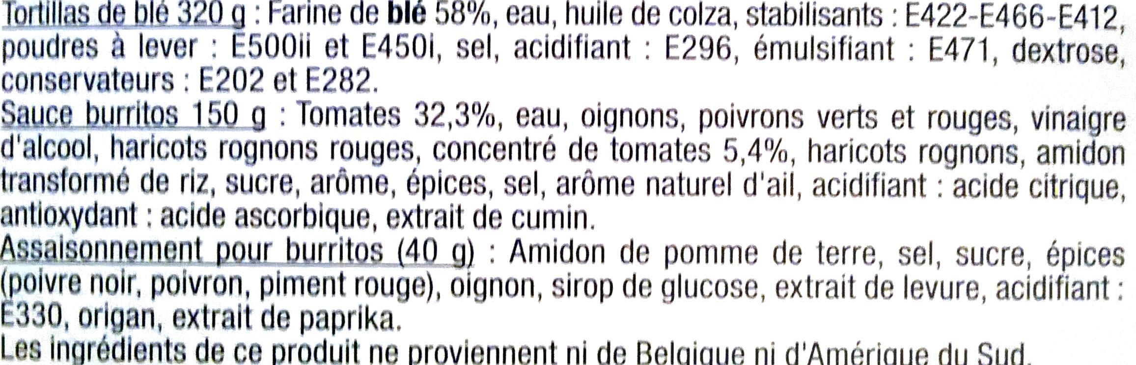 Kit pour burritos - Ingrediënten
