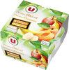 Coupelle dessert de fruits pomme,abricot et pomme,banane - Produit