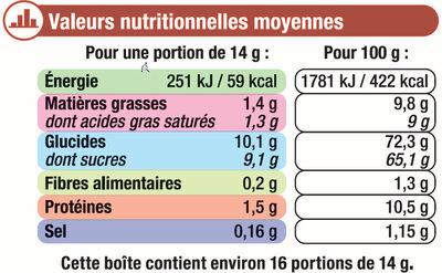 Préparation instantanée pour boisson au café et aromatisée à la caramel - Informations nutritionnelles - fr