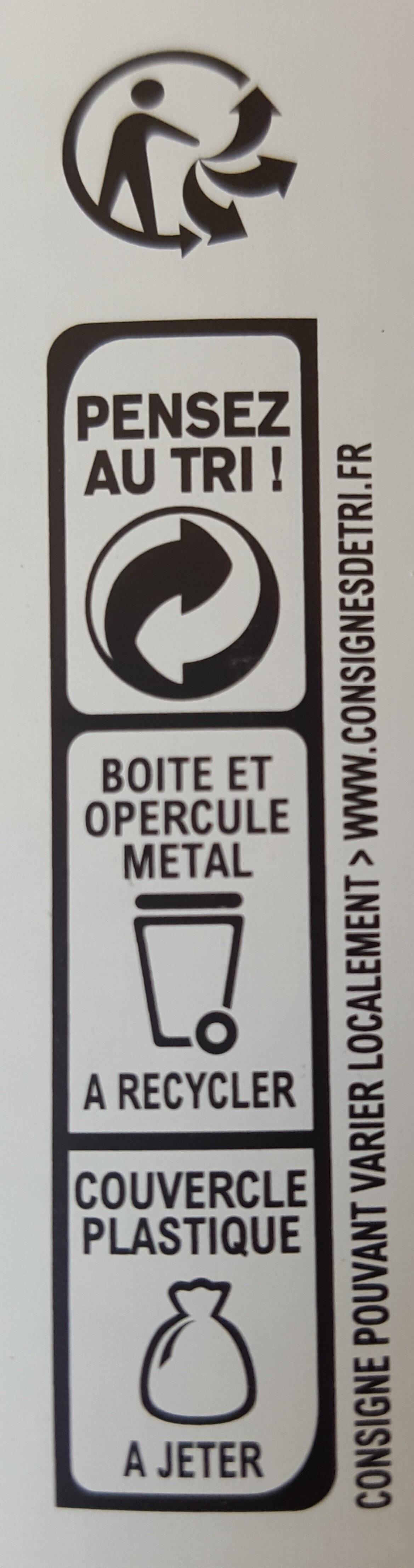Préparation instantanée pour boisson au café et aromatisée à la caramel - Instruction de recyclage et/ou informations d'emballage - fr