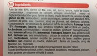 Croque Monsieur - Ingrédients - fr