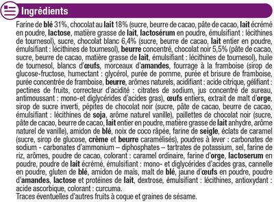 Assortiment patissier - Ingredients