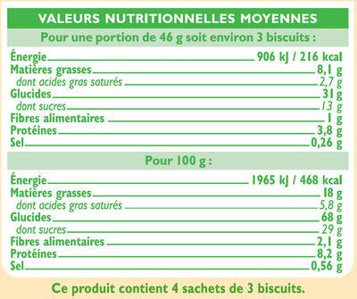 Goûters fourrés au chocolat noir - Nutrition facts - fr
