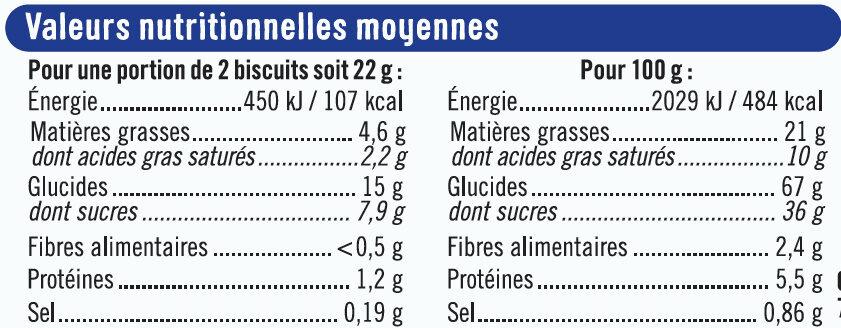 Biscuits fourrés noir et blanc - Voedingswaarden - fr