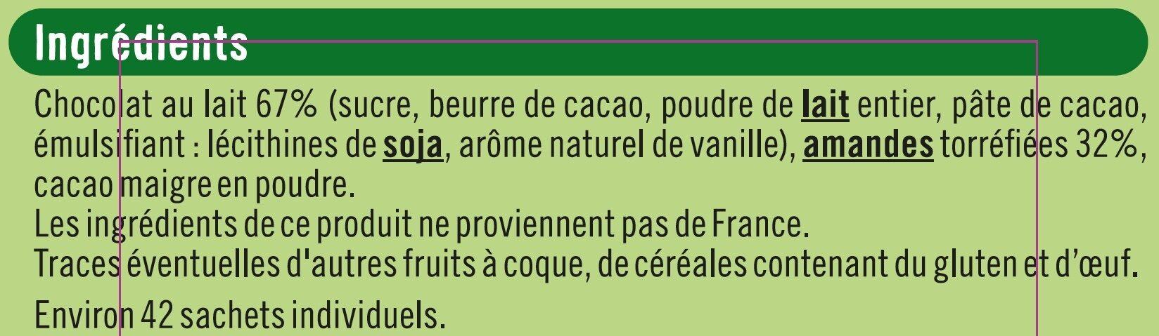 Amandes chocolatées - Ingrédients - fr