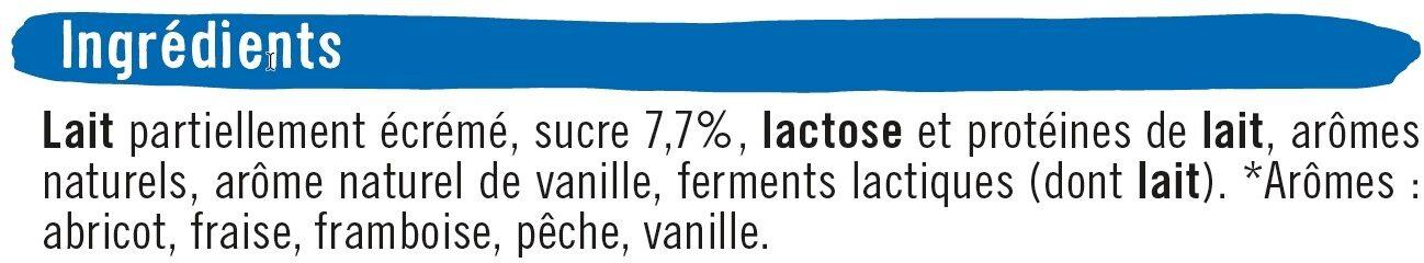 Yaourts sucrés aromatisés panachés - Ingrediënten - fr