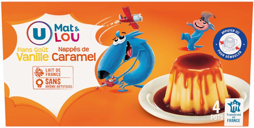 Dessert lacté flan goût vanille nappé caramel - Product