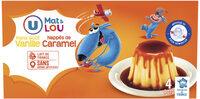Dessert lacté flan goût vanille nappé caramel - Produit - fr