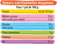 Dessert lacté flan goût vanille nappé caramel - Nutrition facts