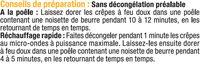 Crêpes emmental - Ingrédients - fr