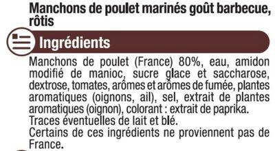 Grignotte de poulet rôtie barbecue - Ingrédients - fr