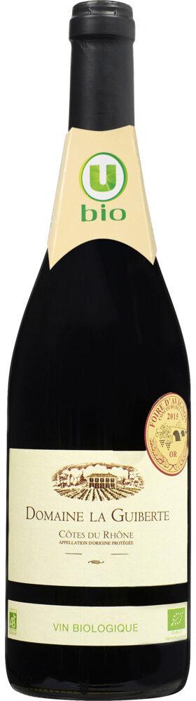 Vin rouge AOP Côtes du Rhône Domaine La Guiberte - Prodotto - fr