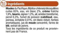 Moules marinières à la crème fraîche - Ingredients