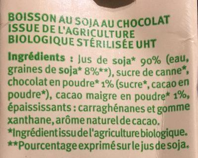 Boisson au soja chocolat - Ingredients