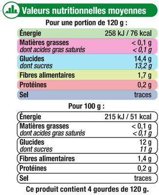 Gourdes pomme kiwi goyave sans sucre ajouté - 11