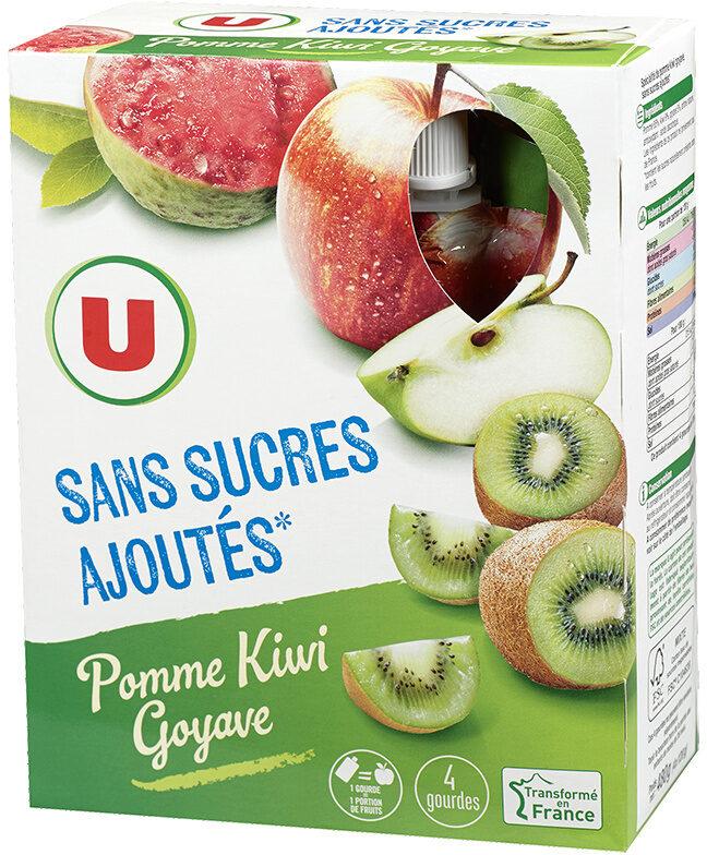 Gourdes pomme kiwi goyave sans sucre ajouté - Produit