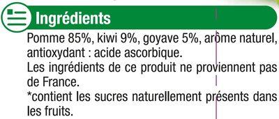 Gourdes pomme kiwi goyave sans sucre ajouté - Ingredienti